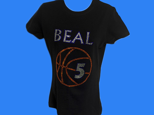 rhinestone basketball shirt